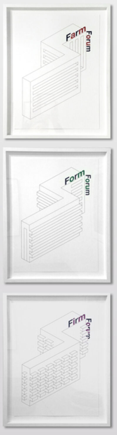 Liam Gillick, 'Form Farm Firm Forum', 2014-2015