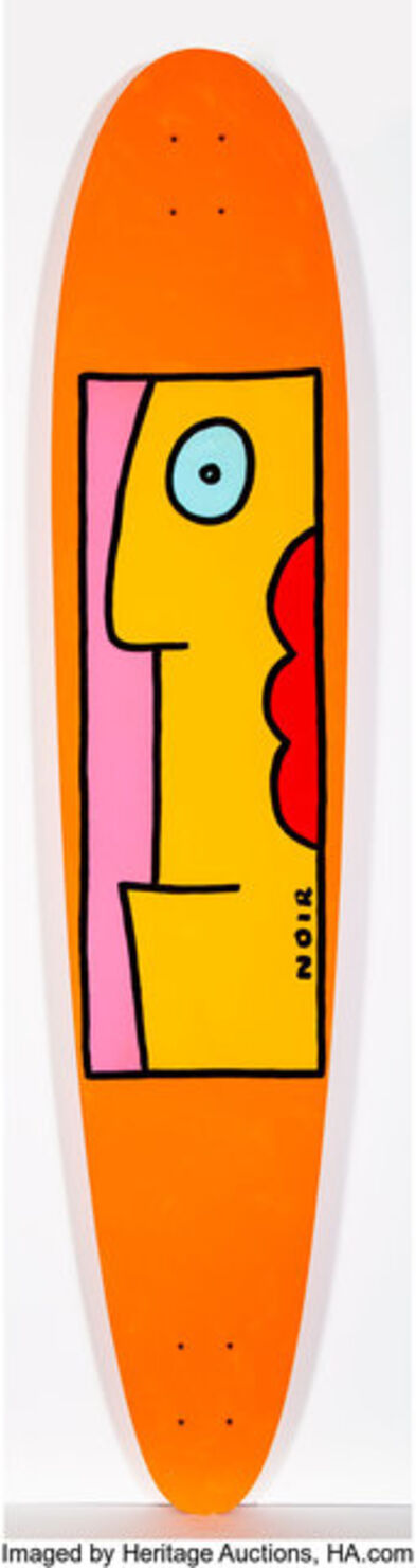 Thierry Noir, 'Orange with Lips'
