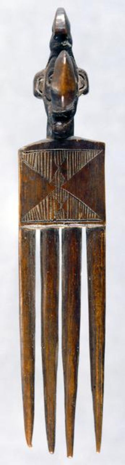 'Hair Comb with Human Head Finial', 1900-1940