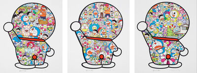 Takashi Murakami, 'Doraemon in the Field of Flowers, Mr. Fujiko F. Fujio and Doraemon Are in the Fields, Doraemon's Daily Life (Set of 3)', 2019