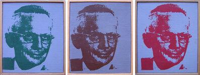 "Richard Pettibone, '""Andy Warhol, Mr Nobody"" (Red) (Green) (Brown)', 1971"