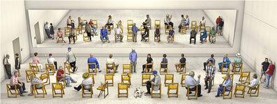 David Hockney, 'Pictured Gathering with Mirror', 2018