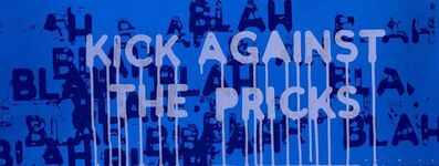 "Mel Bochner, '""Kick Against the Pricks"" Blah blah', 2018"