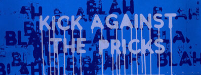 Mel Bochner, 'Kick Against the Pricks', 2018