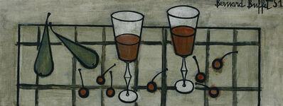 Bernard Buffet, 'Deux Verres de Vin et Fruits', 1951