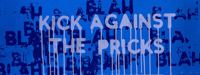 Mel Bochner, 'Kick Against the Pricks', 2018