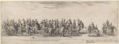 Stefano Della Bella, 'Twenty Pages and Five Turkish Horses', 1633