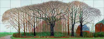 David Hockney, 'Bigger trees near Warter or/ou Peinture sur le motif pour le nouvel age post-photographique', 2007