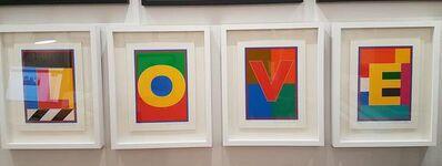 Peter Blake, 'LOVE -Dazzle Alphabet Letters', 2017