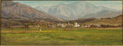 Attributed to John Joseph Enneking, 'In the Swiss Alps'