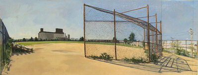 Rackstraw Downes, 'Baseball Field in Red Hook from Campo Uno, No. 4', 2002