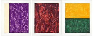 Günther Förg, '3 sheets: Pariser Serie. II. III. IV.', 2000