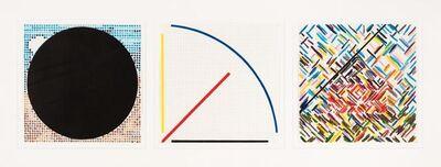 Jennifer Losch Bartlett, 'Circle, Line, House from Rhaposdy (a group of three prints)', 1993