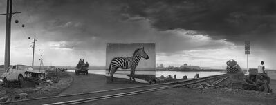 Nick Brandt, 'Road to Factory with Zebra', 2014