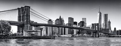 Andrew Prokos, 'Panoramic Skyline of Brooklyn Bridge and Lower Manhattan', 2017