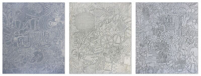 """Philip Smith, '""""White Field"""", """"Wishing Well"""", & """"Dial Nine"""" Triptych', 1998-1999"""