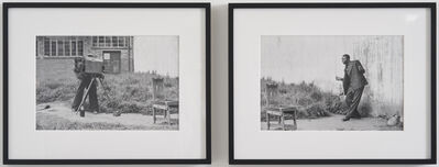 David Goldblatt, 'Portrait of the photographer and his client, Braamfontein', 1955