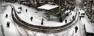 Nuri Bilge Ceylan, 'Curved street in winter, Istanbul', 2004