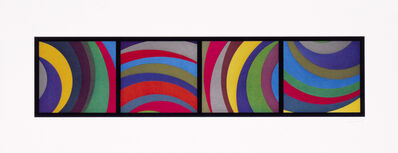 Sol LeWitt, 'Irregular Arcs From Four Sides', 1997