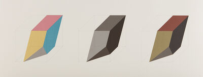 Sol LeWitt, 'Forms Derived from a Cube in Color (Simple & Superimposed) & Black & Grey, Plate 3', 1984-85