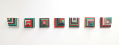 Carlos Castro Arias, 'Desplazamiento verde y rojo', 2017
