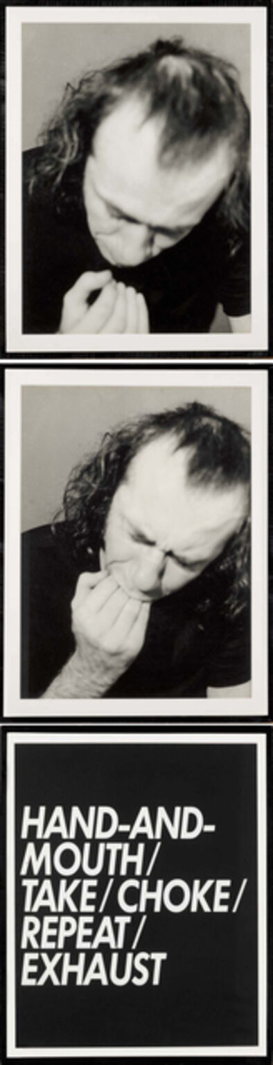 Vito Acconci, 'Hand & Mouth (Film Stills & Text)', 1971
