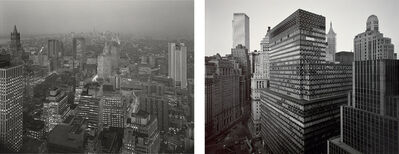 Nicholas Nixon, 'View of First National City Bank Building from Battery Plaza and View Towards Midtown from Wall Street', 1975