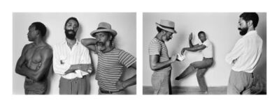 Dawoud Bey, 'David Hammons, Bill T Jones, Philip Mallory Jones at Just Above Midtown/Downtown Gallery, 1983', 1983