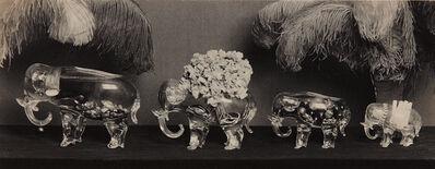 Paul Outerbridge, 'Four Glass Elephants', 1924