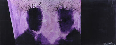 Richard Hambleton, 'Purple Shadow Head', 2015