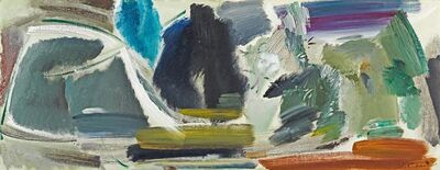 Ivon Hitchens, 'Water, dark trees and willows', 1963-1964