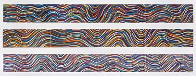 Sol LeWitt, 'Wavy Bands of Color (Triptych)', 1997