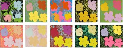 Andy Warhol, 'Flowers (F. & S. II.64-73) (set of 10)', 1970