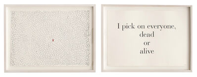 Louise Bourgeois, 'I Pick on Everyone Dead or Alive', 1999