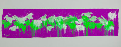 Ushio Shinohara, 'Green & White on Purple – April 2014', 2014