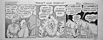 Bill Griffith, 'TWIST AND SHROUD- daily strip', 2011