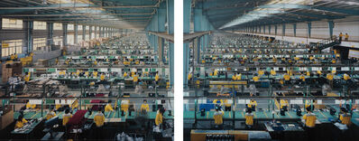 Edward Burtynsky, 'Manufacturing #10a & #10b, Cankun Factory, Xiamen City, China', 2005