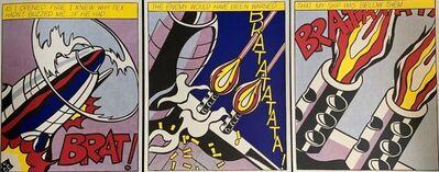 Roy Lichtenstein, 'As I Opened Fire Triptych', 1966