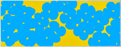 Donald Sultan, 'Wallflowers Light Blue Over Yellow', 2018