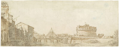 Giuseppe Zocchi, 'View of Rome with the Dome of Saint Peter's and the Castel Sant' Angelo', ca. 1750