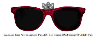 Stacy Engman, 'Sunglasses-Tiara Ruby & Diamond Dust .25Ct Real Diamond Dust (diadem), 3 Ct Ruby Dust', 2019