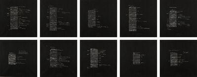 Joseph Kosuth, '10 Unnumbered Corrections (7 nights)', 1991