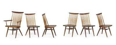 George Nakashima, 'Set of six New chairs, one arm- and five side-, New Hope, PA', 1959