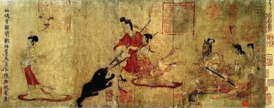 Gu Kaizhi 顾恺之, 'Detail of Admonitions of the Imperial Instructress to Court Ladies, Six Dynasties period', 6th-8th century