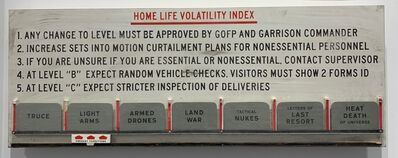 Skylar Fein, 'Home Life Volatility Index', 2019