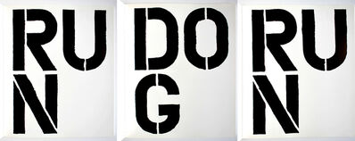 Christopher Wool, 'RUN DOG RUN (Parkett Journal containing this insert by Christopher Wool)', 1989