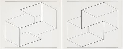 Josef Albers, 'Drawing of a Structural Constellation I & II: A pair of drawings', 1962