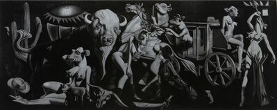 Ron English, 'Cowgirl Guernica (Black & Silver)', 2010