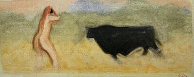 Paul Resika, 'Photographer and Bull', 1985