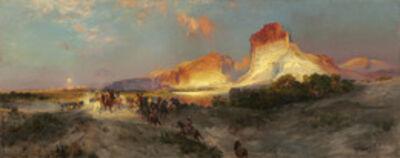 Thomas Moran, 'Green River Cliffs, Wyoming', 1881